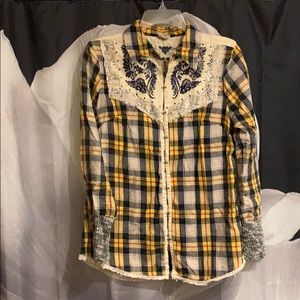 Buckle GIMMICKS boho embroidered flannel small
